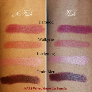 flash and no flash velvet matte lip pencils