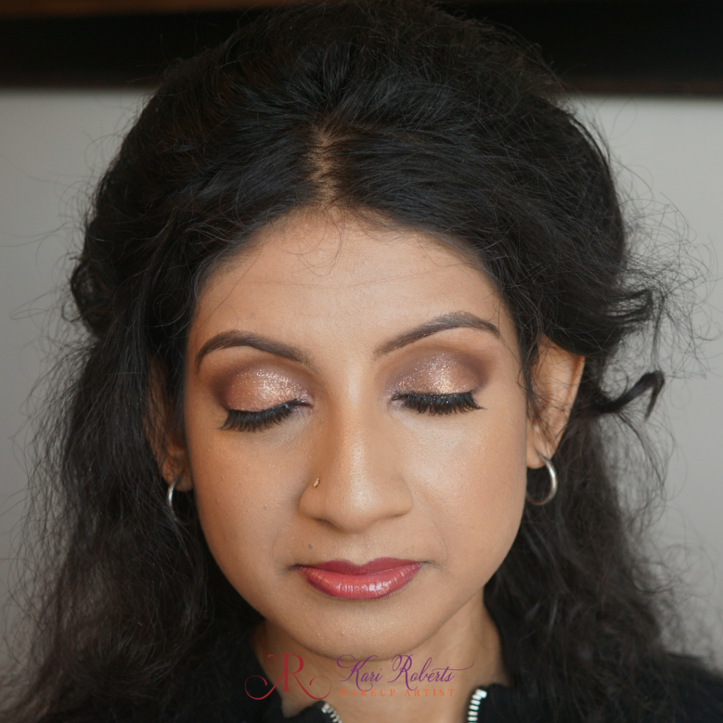 Arabian Wedding Makeup - Bride with glitter