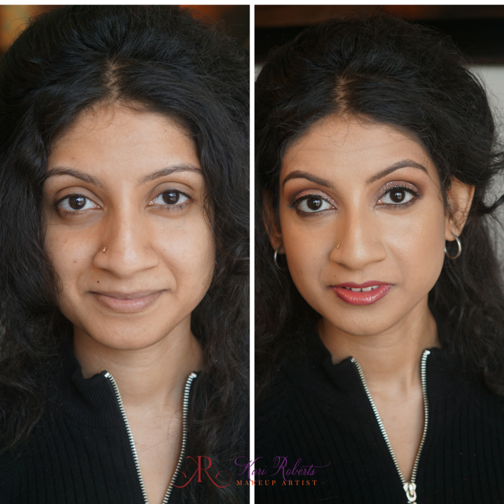 Arabian Wedding Makeup - bride before and after