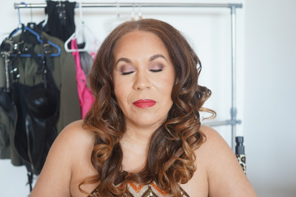 denise after hair and makeup eyes closed by kari roberts makeup artist
