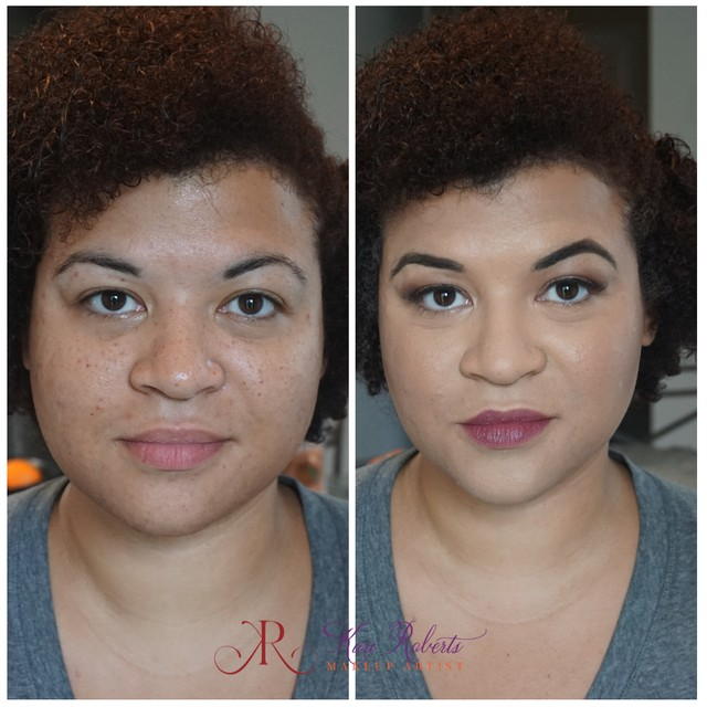 makeup for black women before and after
